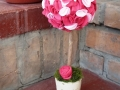 mini filc gömbfa, rózsaszín, 28 cm magas, a gömb átmérője 12 cm, KÓD: TV 05