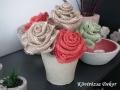 rózsák juta szalagból