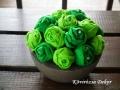 filcvirágok beton tartóban, zöld, KÓD: TV 12
