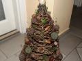 vesszőböl font karácsonyfa