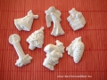 karácsonyi figurák, fehér, kb. 6-8 cm, KÓD: KAR 02