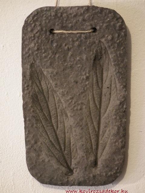 levéllenyomatos falikép (Viburnum sp.), KÓD: KK 01