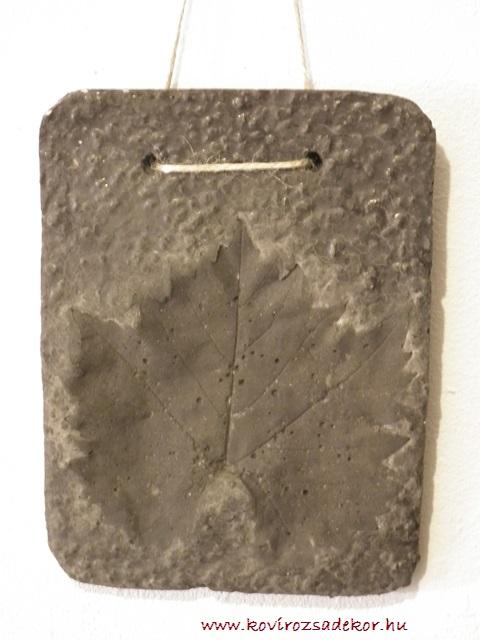levéllenyomatos falikép (Vitis sp.), 15x20 cm, KÓD: KK 02