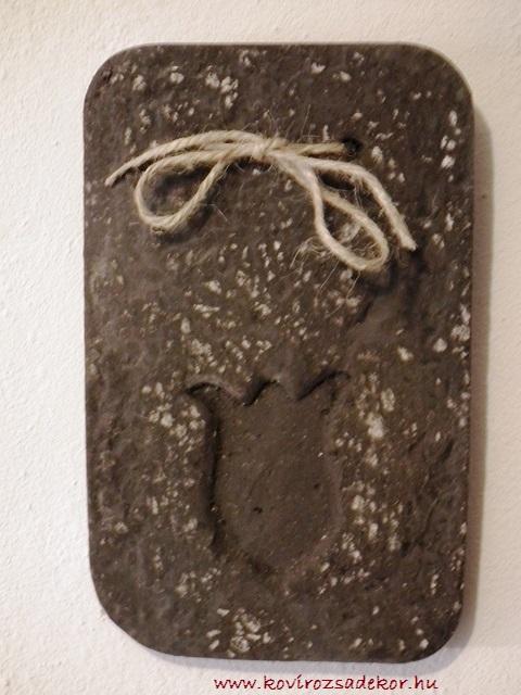 könnyűbeton falikép tulipán mintával, KÓD: KK 15