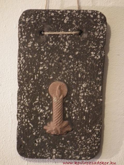 könnyűbeton falikép karácsonyi mintával, 12x22 cm, KÓD: KK 04