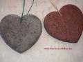 könnyűbeton szív, 18 cm széles, piros és szürke,