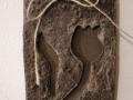 könnyűbeton falikép tulipán mintával, 12x22 cm, KÓD: KK 16