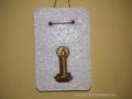 könnyűbeton falikép karácsonyi mintával, antik arany színű festés, 12x18,5 cm, KÓD: KK 28