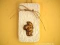 könnyűbeton falikép karácsonyi mintával, réz színű festés, 10x18,5cm, KÓD: KK 31