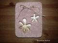 könnyűbeton falikép virág mintával, antik réz festés, KÓD: KK 43