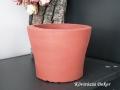 beton kaspó piros betonfestékkel festve, KÓD: BD 08