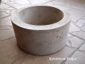 kerek beton edény, 15x7,5 cm, KÓD: BD 12