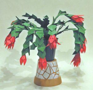 origami karácsonyi kaktusz