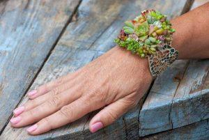 pozsgás karkötő, succulent bracelet