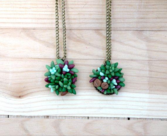 pozsgás nyaklánc, succulent necklace
