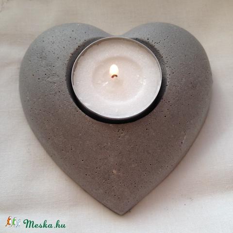 beton szív gyertyatartó, Valentin-nap