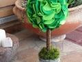 mini filc gömbfa, zöld, 28 cm magas, a gömb átmérője 12 cm, KÓD: TV 07