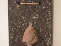 könnyűbeton falikép karácsonyi mintával, 13x17 cm, KÓD: KK 07