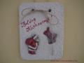 könnyűbeton falikép karácsonyi mintával, 15x20 cm, KÓD: KK 23