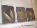 levéllenyomatos faliképek, 15x20 cm, arany színű festés
