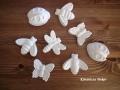 állatfigurák betonból (fehér), KÓD: BD 02