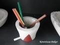 beton ceruzatartó, 11x7, 5 cm, KÓD: BD 05