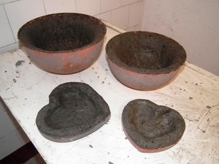 könnyűbeton (hypertufa) edények
