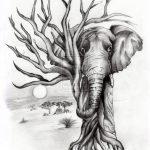 elefánt rajz fa
