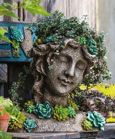 fej alakú növénytartók, succulent head planters