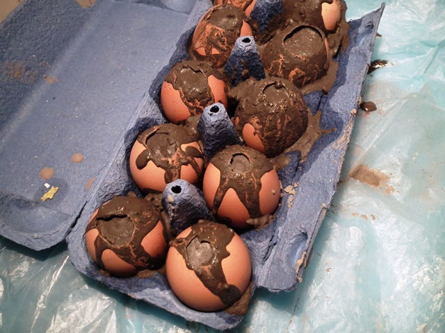 betontojás, concrete egg