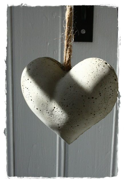 beton szív Valentin-napra